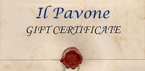 il Pavone Gift Certificate